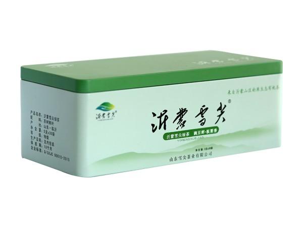 沂蒙雪尖绿茶泡袋铁盒装